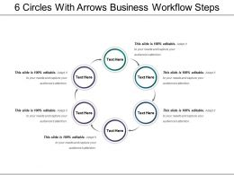 6 Circles With Arrows Business Workflow Steps