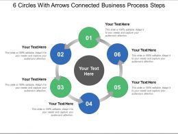 6 Circles With Arrows Connected Business Process Steps