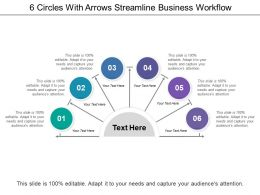 6 Circles With Arrows Streamline Business Workflow