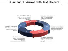 6 Circular 3d Arrows With Text Holders