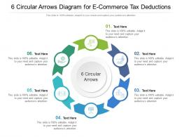6 Circular Arrows Diagram For E Commerce Tax Deductions Infographic Template