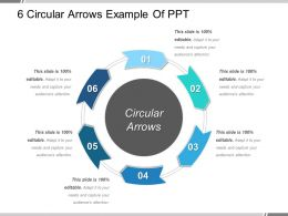 6 Circular Arrows Example Of Ppt