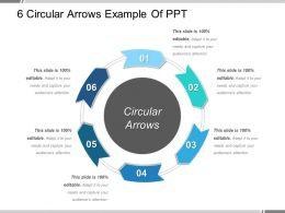 6 Circular Arrows Example Of Ppt