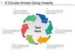 6 Circular Arrows Going Inwards
