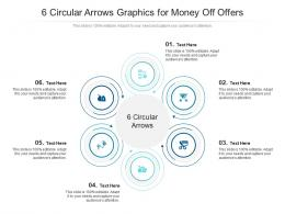 6 Circular Arrows Graphics For Money Off Offers Infographic Template