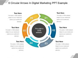 6 Circular Arrows In Digital Marketing Ppt Example