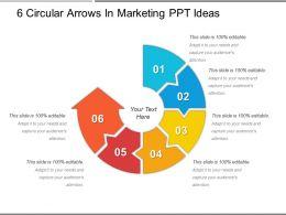 6 Circular Arrows In Marketing Ppt Ideas