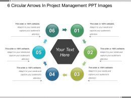 6 Circular Arrows In Project Management Ppt Images