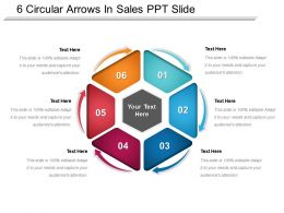 6 Circular Arrows In Sales Ppt Slide