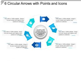 6 Circular Arrows With Points And Icons