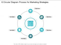 6 Circular Diagram Process For Marketing Strategies Infographic Template