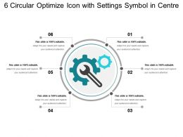 6 Circular Optimize Icon With Settings Symbol In Centre