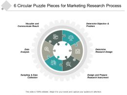 6 Circular Puzzle Pieces For Marketing Research Process