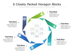 6 Closely Packed Hexagon Blocks