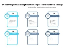 6 Column Layout Exhibiting Essential Components To Build Data Strategy