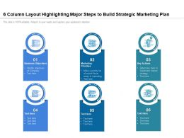 6 Column Layout Highlighting Major Steps To Build Strategic Marketing Plan