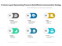 6 Column Layout Representing Process To Build Effective Communication Strategy