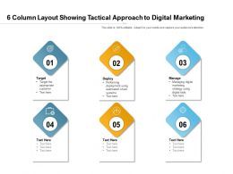 6 Column Layout Showing Tactical Approach To Digital Marketing