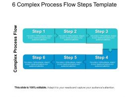 6 Complex Process Flow Steps Template Powerpoint Ideas
