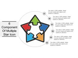 6 Component Of Multiple Star Icon PPT Example