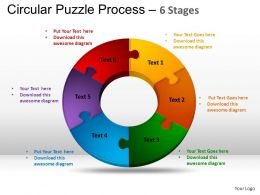 6 Components Circular Puzzle Process Powerpoint Slides And ppt Templates 0412