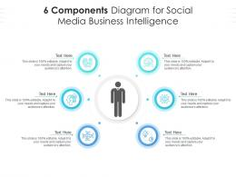 6 Components Diagram For Social Media Business Intelligence Infographic Template