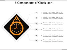 6 Components Of Clock Icon Ppt Images Gallery