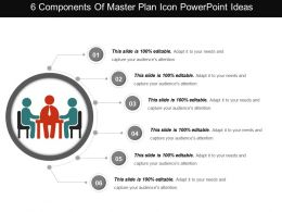 6 Components Of Master Plan Icon Powerpoint Ideas
