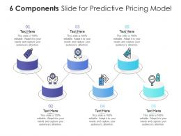 6 Components Slide For Predictive Pricing Model Infographic Template