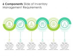 6 Components Slide Of Inventory Management Requirements Infographic Template