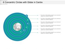 6 Concentric Circles With Globe In Centre