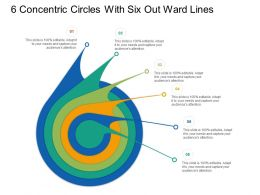 6 Concentric Circles With Seven Out Ward Lines