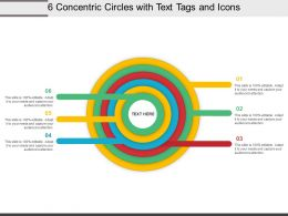 6 Concentric Circles With Text Tags And Icons