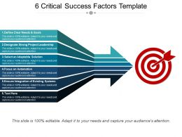 6 Critical Success Factors Template Ppt Background Designs