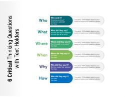 6 Critical Thinking Questions With Text Holders