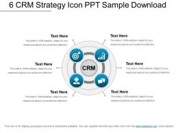 6 Crm Strategy Icon Ppt Sample Download