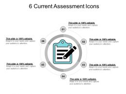 6 Current Assessment Icons Ppt Images Gallery