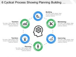 6 Cyclical Process Showing Planning Building Maintaining And Improving