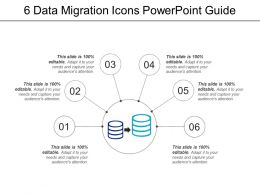 6 Data Migration Icons Powerpoint Guide