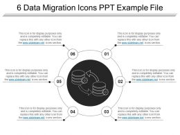 6 Data Migration Icons Ppt Example File