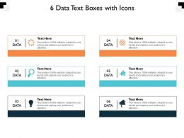 6 Data Text Boxes With Icons