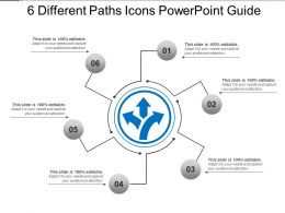 6 Different Paths Icons Powerpoint Guide