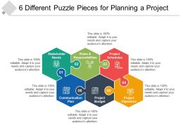 6 Different Puzzle Pieces For Planning A Project