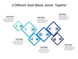 6 Different Sized Blocks Joined Together