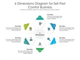 6 Dimensions Diagram For Sell Pest Control Business Infographic Template