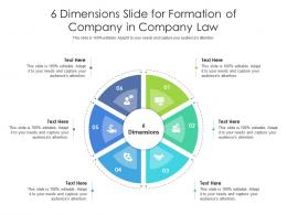6 Dimensions Slide For Formation Of Company In Company Law Infographic Template
