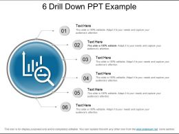 6 Drill Down Ppt Example