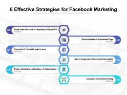6 Effective Strategies For Facebook Marketing
