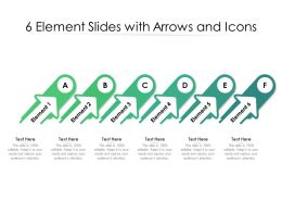 6 Element Slides With Arrows And Icons