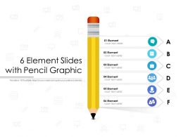 6 Element Slides With Pencil Graphic